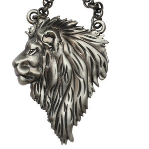HP Lion Face Necklace Leo Zodiac Jungle Big Cat